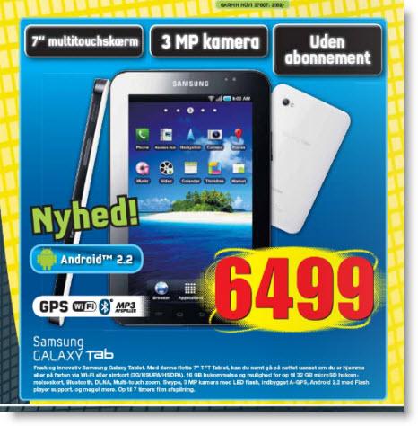 Annoncen fra elgiganten med Samsung Galaxy Tab